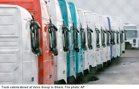 Volvo trucks profits up after layoffs