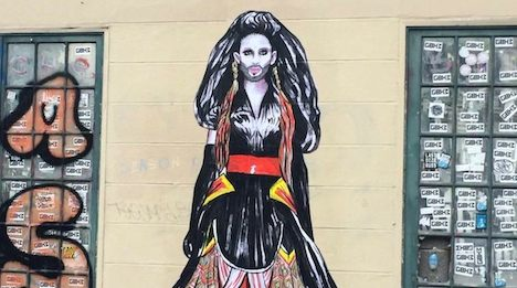 Conchita graffiti spotted in Paris