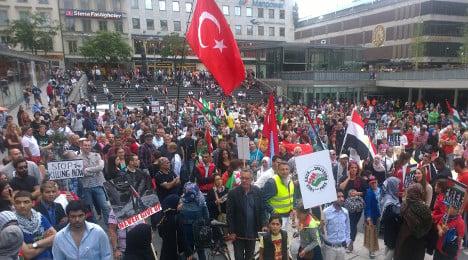 Stockholm Gaza demo targets Israeli embassy