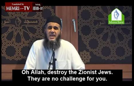 VIDEO: Danish imam calls for death to Jews