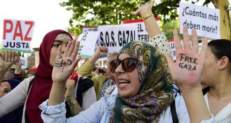 Gaza crisis: Spaniards stage anti-Israel protest