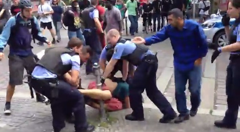 VIDEO: Police arrest sparks protest