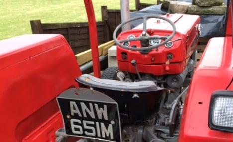 Brit's charity tractor trek heads for Denmark