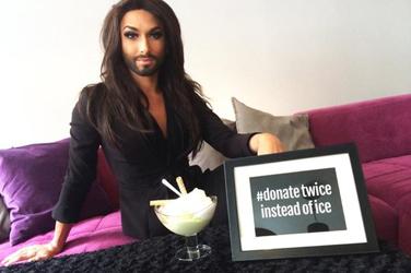 Conchita does ALS ice bucket challenge