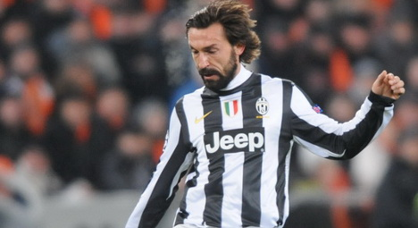 Andrea Pirlo sidelined for a month due to hip injury