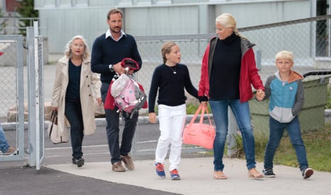 Princess Ingrid starts her first day at new school