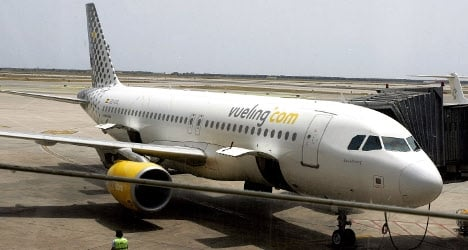 Panic as Vueling plane catches fire in Florence