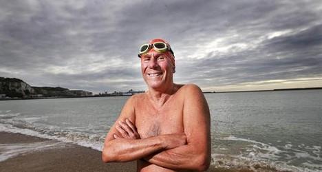 Australian, 70, breaks record for Channel swim