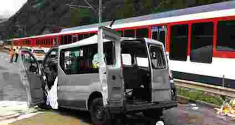 Three Israeli tourists killed in train-van crash
