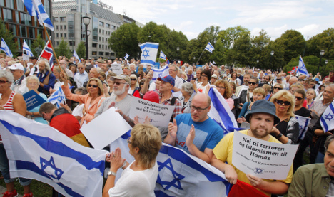 Pro-Israel protest causes tensions in Oslo