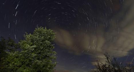 Meteor shower blazes across Spanish sky