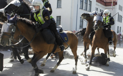 Ten injured at Malmö anti-Nazi demonstration
