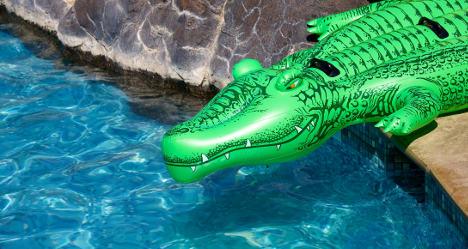'Dangerous' (blow-up) crocs seized in France