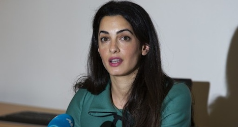Clooney's fiancee named to UN Gaza probe team