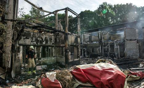 Abandoned Berlin theme park burned down