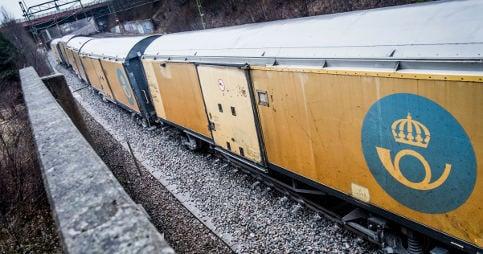 Elderly Swede unhurt after train runs over her