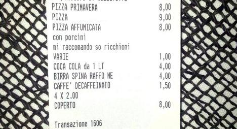 Waiter writes 'faggots' on gay diners' receipt