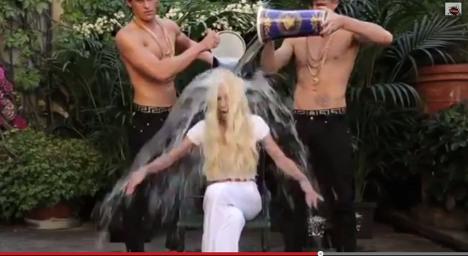 Hunky models dump ice bucket on Donatella
