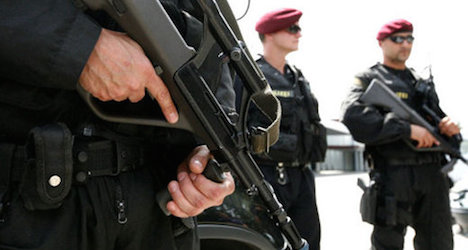 Austrian Special Forces storm 'wrong door'