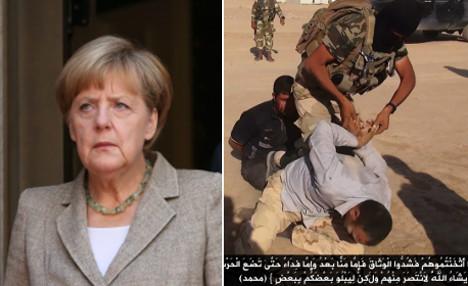 Merkel accuses Isis of genocide
