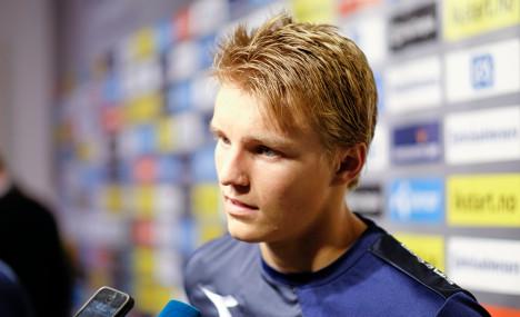 Ødegaard set for Norway international debut