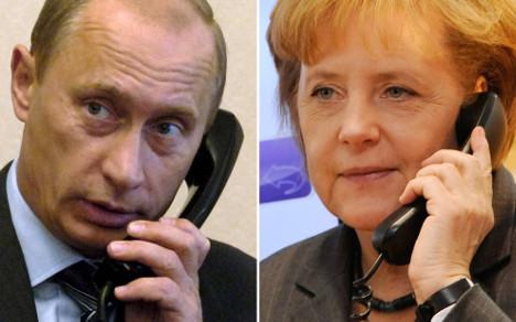 Merkel tops Putin hot-line call queue