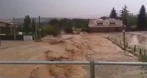 20-min hailstorm causes flash flood in Spain
