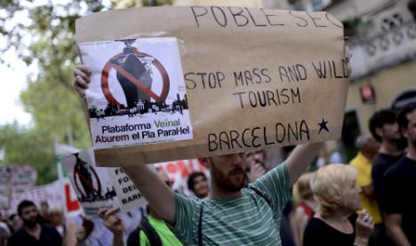 Barca locals rebel at naked tourists' antics