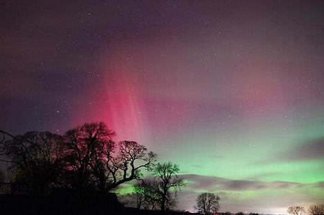 Possible Northern Lights over Denmark
