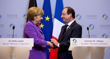 TV love affair for French and German leaders