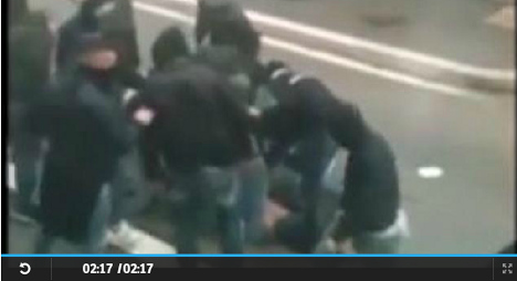 Video released of fatal moment Napoli fan shot