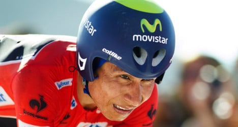 Vuelta favourite Quintana crashes out of race