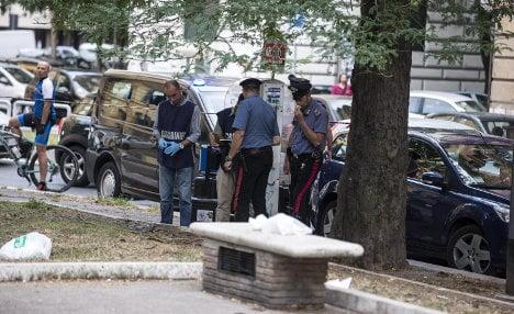 Homeless German stabs four policemen in Rome