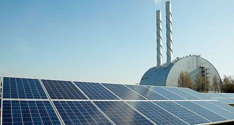 Solar power plant in Vienna a nature habitat