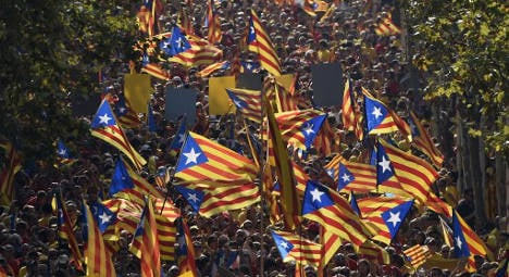 In Pictures: Catalonia's eventful National Day