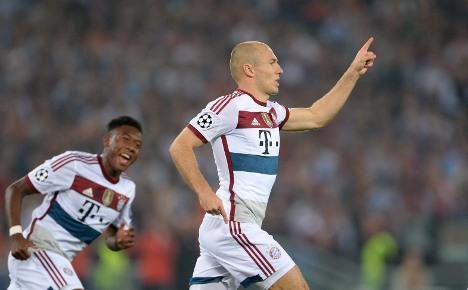 7:1! Bayern celebrate record in Rome