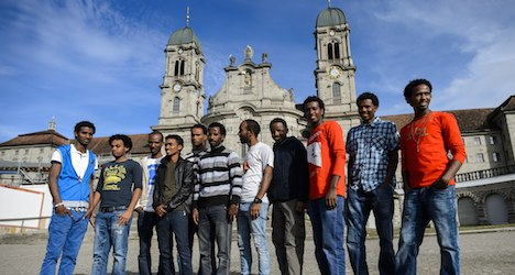 Eritrean refugees find shelter at Swiss abbey