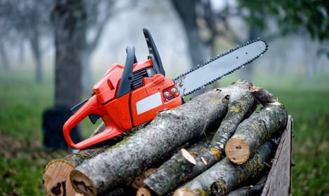 Chainsaw man destroys house in family feud