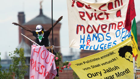 Now Berlin turns to tents to house refugees
