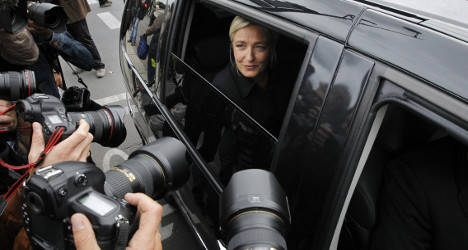 Marine Le Pen pelted with rocks while driving