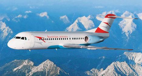 Austrian Fokker made emergency landing