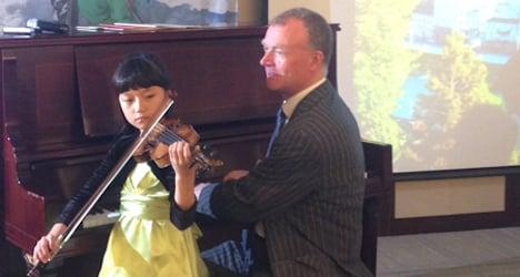 Mozart's violin meets Korean prodigy