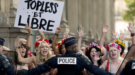 Topless feminists fight French anti-nudity rules