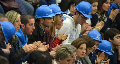 Five hurt in Rome jobs protest clashes