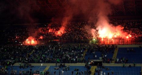 French football fans cause mayhem in Milan