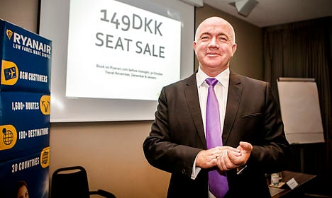 Ryanair announces new Copenhagen base