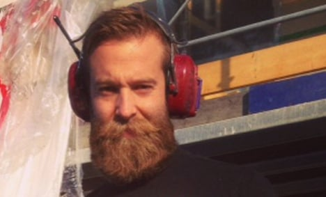 Construction worker has 'Sweden's best beard'
