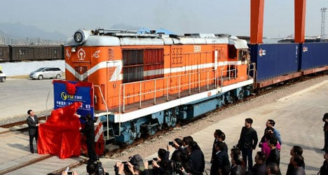 'World's longest railway' links Madrid and China
