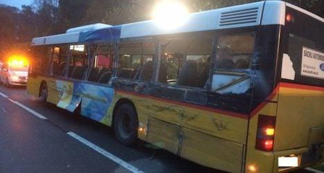 Bus-truck crash in Aargau leaves two dead