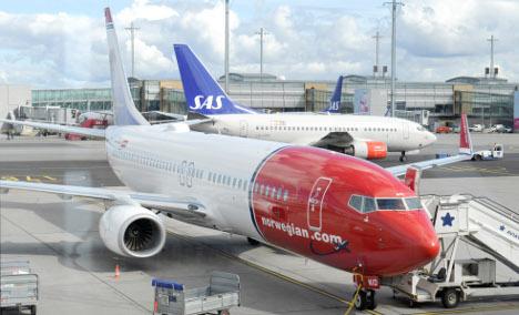 Flight delays across Norway